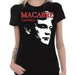 Macabre Dahmer Girl's Black T-Shirt