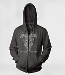 Inspired Murder Metal Zipper Up Hooded Sweatshirt