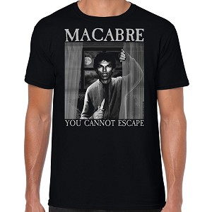 Macabre Inspired Murder Metal T-Shirt Front