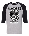 Unabomber Black & Gray 3/4 Sleeve Jersey