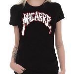Macabre Girl's Black T-Shirt