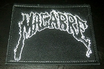 Macabre Logo Leather Patch